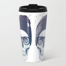 Color skull in a hat Travel Mug