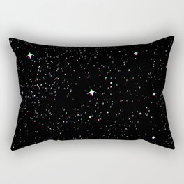 Simple psyche white stars night Rectangular Pillow