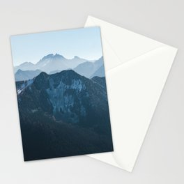 Northern Cascades Dusted with Snow Stationery Cards
