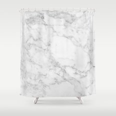White Marble Edition 2 Shower Curtain