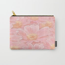 Pretty In Pink Painterly Floral Carry-All Pouch
