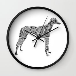 Paisley Dog No. 2 - Extra Large Wall Clock