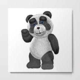 Panda Bear Waving Blue Eyes 0AQ 2 Metal Print