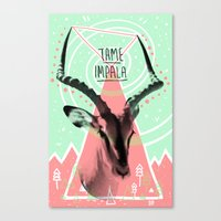 tame impala Canvas Prints featuring Tame Impala by - OP -
