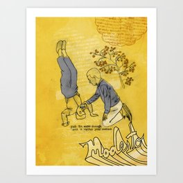 Modesto! Hiccup Art Print