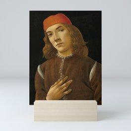 "Sandro Botticelli ""Portrait of a Young Man"" (I) Mini Art Print"