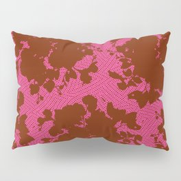 bouquet silhouette in berry Pillow Sham