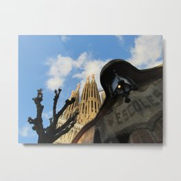 Sagrada Familia from The Side Metal Print