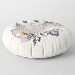 Boho Illustration- Be Wise Little Owl Floor Pillow
