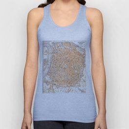 Vintage Map of Antwerp Belgium (1905) Unisex Tank Top
