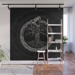 Ouroboros with Tree of Life Wall Mural