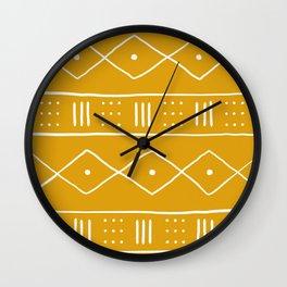 Yellow Ethnic Pattern  Wall Clock