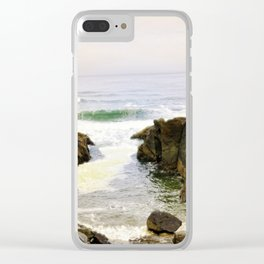 Yachats Oregon - Upon The Rocks Clear iPhone Case