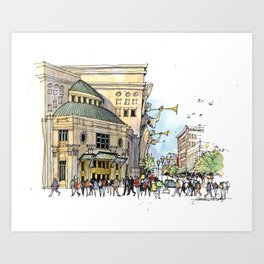 Bass Performance Hall, Fort Worth Art Print