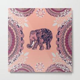 Bohemian Elephant Metal Print