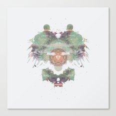 Inkdala IV - Green and Purple Rorschach Art Canvas Print