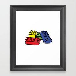 Multi Building Blocks Framed Art Print