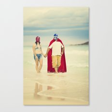 mexican luchadores on honey moon Canvas Print