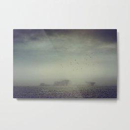 Misty Fields Metal Print