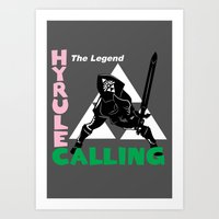 hyrule Art Prints featuring Hyrule Calling by machmigo