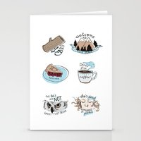 twin peaks Stationery Cards featuring // twin peaks // by // PIGEON //