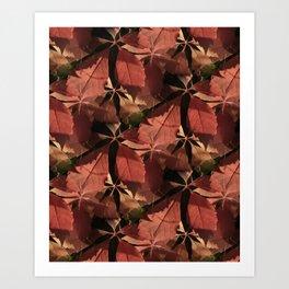 red autumn leaves -03- Kunstdrucke