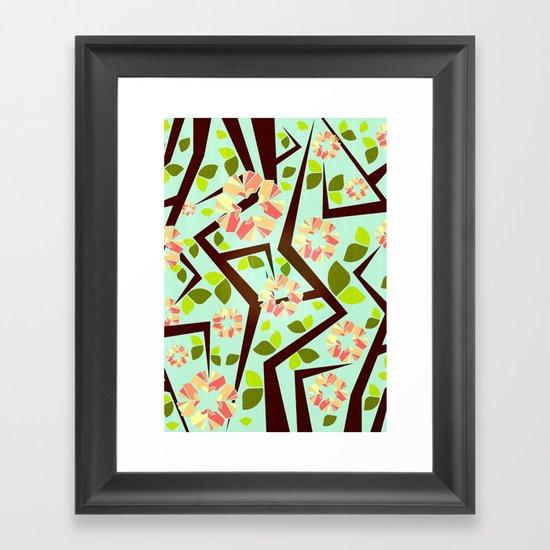 Blooming Trees Pattern III Framed Art Print