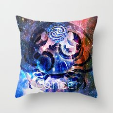 Astrology Cancer Sign Throw Pillow