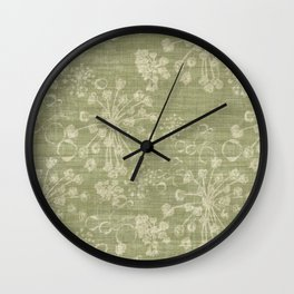 Plant Seeds Wall Clock