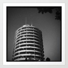 Capitol Records Building Art Print