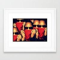 robin hood Framed Art Prints featuring Red Robin Hood by Ashleynaomi