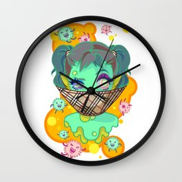 musty girl Wall Clock