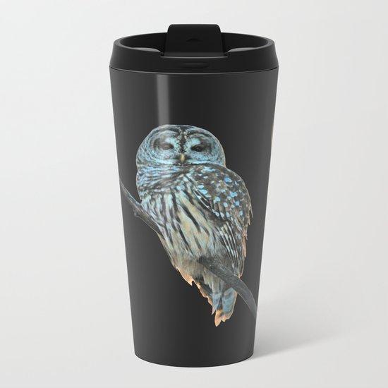 Owl, See the Moon Metal Travel Mug
