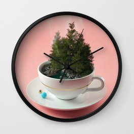 Hot cup of tree Wall Clock