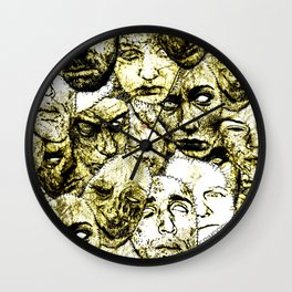 Face Stitches Wall Clock