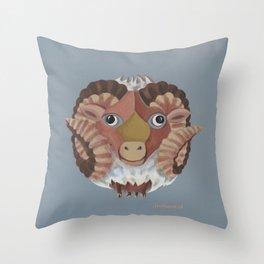 Aries (grey) Throw Pillow