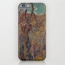 Canadian Landscape Oil Painting Franklin Carmichael Art Nouveau Post-Impressionism Silvery Tangle iPhone Case