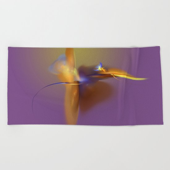 dancing angle Beach Towel