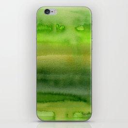 Spring Greens Abstract Watercolor Horizontal Pattern iPhone Skin