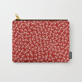 Maritime small Nautical Red and White Anchor Pattern - Anchors on #Society6 Carry-All Pouch