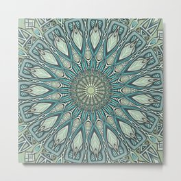 Eye of the Needle Mandala Art Metal Print