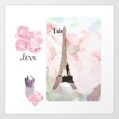 Paris Love Art Print
