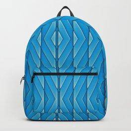 Turquoise Herringbone Tribal Pattern Backpack