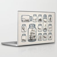 plane Laptop & iPad Skins featuring Vintage Preservation by Paula Belle Flores