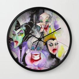 Abstract Villains Wall Clock