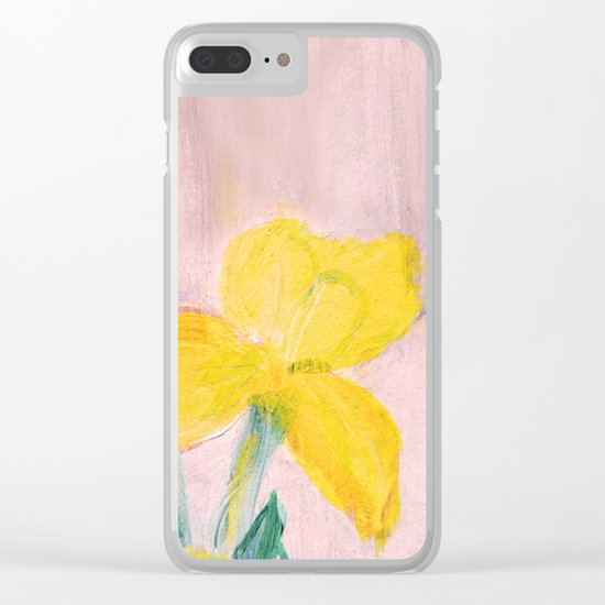 Sunny iris Clear iPhone Case