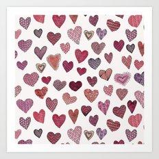 Artsy Hearts Art Print