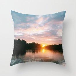 Northbound Sunset Throw Pillow