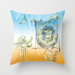 King of the Apes Throw Pillow