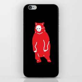 Red Bear Mask iPhone Skin